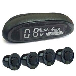 Image 4 - Parktronic LED capteur de stationnement automatique pour voiture, avec 4 capteurs, détecteur de sonnerie de recul, moniteur Radar de rechange pour stationnement