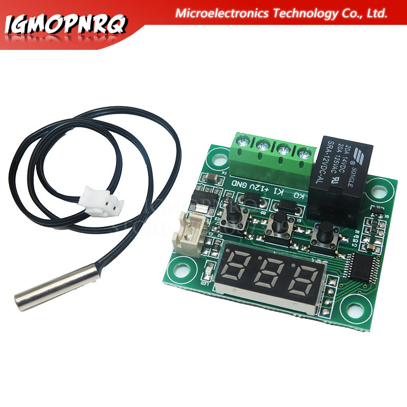 1PCS <font><b>W1209</b></font> <font><b>DC</b></font> <font><b>12V</b></font> hitze kühlen temp thermostat temperatur control schalter temperatur controller thermometer thermo controlle image