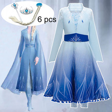 New Elsa Dresses For Girls Carnival Costume Kids Dr
