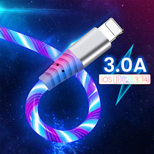 Fluss USB Daten Kabel Für iPhone 12 Pro Max 11 XS XR X 8 7 6S Luminous Micro USB typ C 3A Schnelle Ladekabel Für Huawei Xiaomi cheap llano NONE LIGHTNING TYPE-C CN (Herkunft) USB A