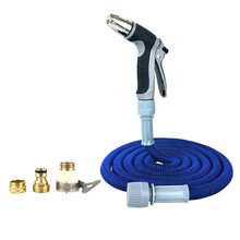 Car Wash Kit with High Pressure Nuzzle, 4 Foam Spraying Patterns & 3 Extra Adapters w/ 5m Expandable Garden Hose(China)