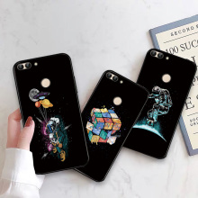 Balloon Silicone Phone Case For Huawei Y5 II Black TPU Cover Honor 5A Russian Universe Bumper 2 Astronaut Shell