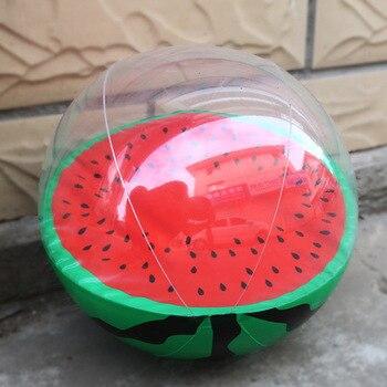 цена на 30cm Kids Fun Float Toys Inflatable Watermelon Orange Shape Water Balloons Summer Swimming Pool Sport Ball