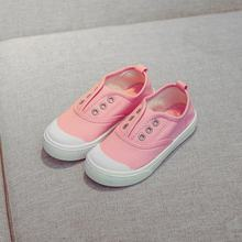 Children's Shoes 2018 Spring Autumn Canvas Shoes Boys Girl White Shoes Non-slip Breathable Sneakers 1-12T Comfortable Kids Shoes(China)