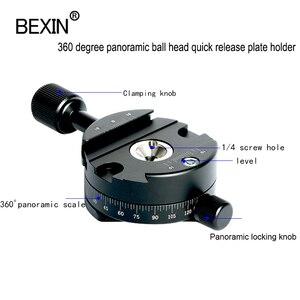 Image 4 - Câmera braçadeira panorâmica tiro braçadeira tripé monopé placa de liberação rápida montagem girar braçadeira para placa arca dslr câmera tripé