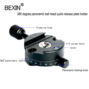 Image 4 - Camera Clamp Panoramisch Schieten Klem Statief Monopod Quick Release Plate Mount Draaien Klem Voor Arca Plaat Dslr Camera Statief