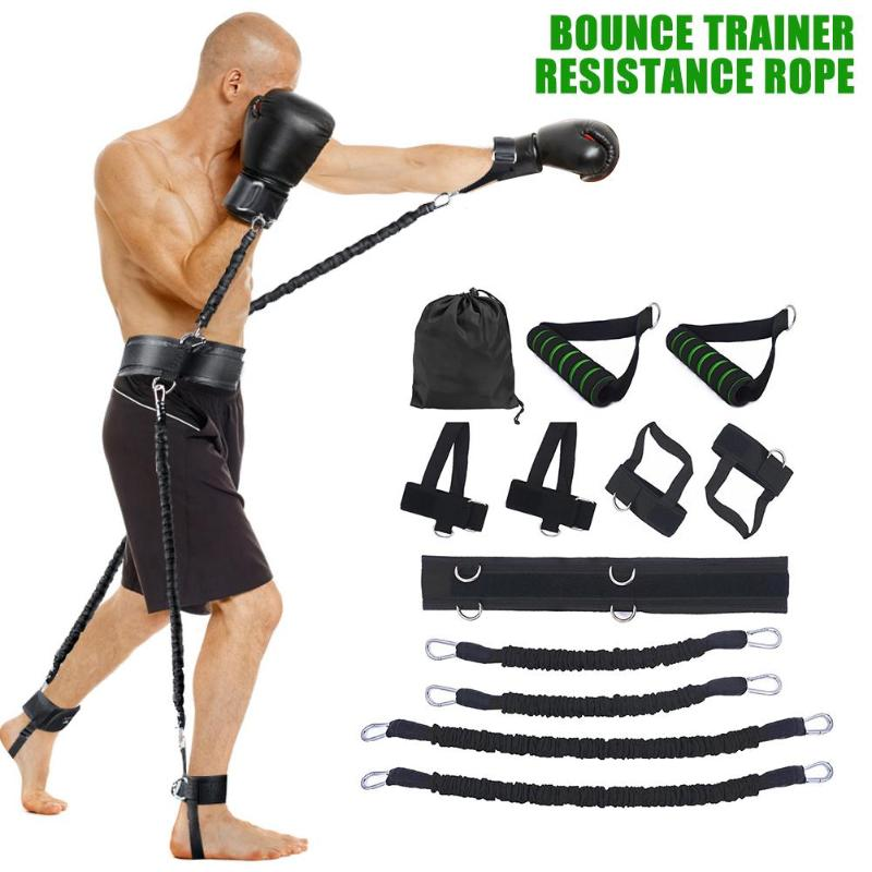 Resistance Bands Home Gym Stretching Strap Set Waist Leg Bouncing Training Arm Exercises Boxing Muay Body Building Yoga Exercise