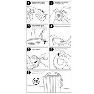 Image 5 - 2 sztuk bezprzewodowe/przewodowe wymienne nauszniki poduszki na uderzenia Dre Solo 2 Solo 3 PU skórzane uszy poduszka pod kubek akcesoria do słuchawek