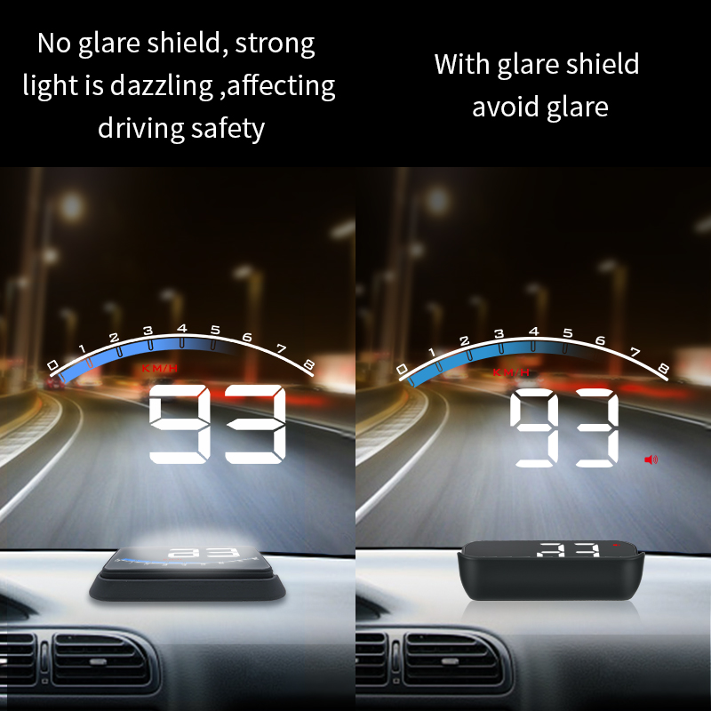 GEYIREN Hud M6S Hud Display Car KM/h MPH Auto Electronics Better Than A100s OBD2 Hud Windshield Projector Display Car 2019