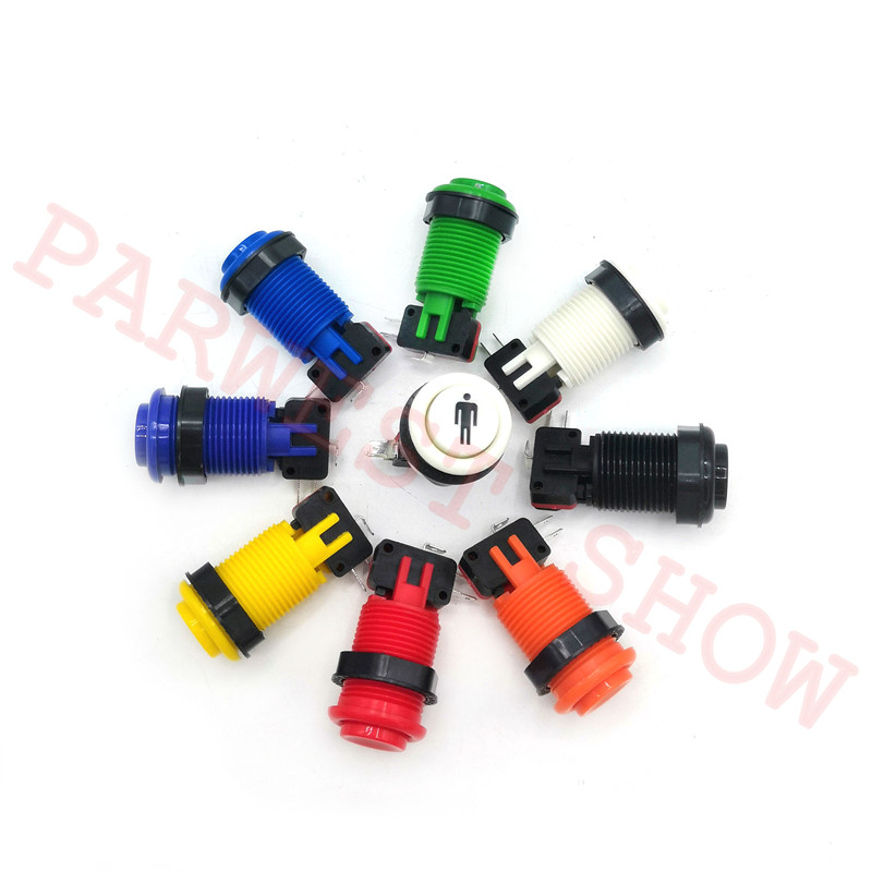 28mm Start push Button 1P+2P+3P+4P With Microswitch Arcade Machine HAPP Style