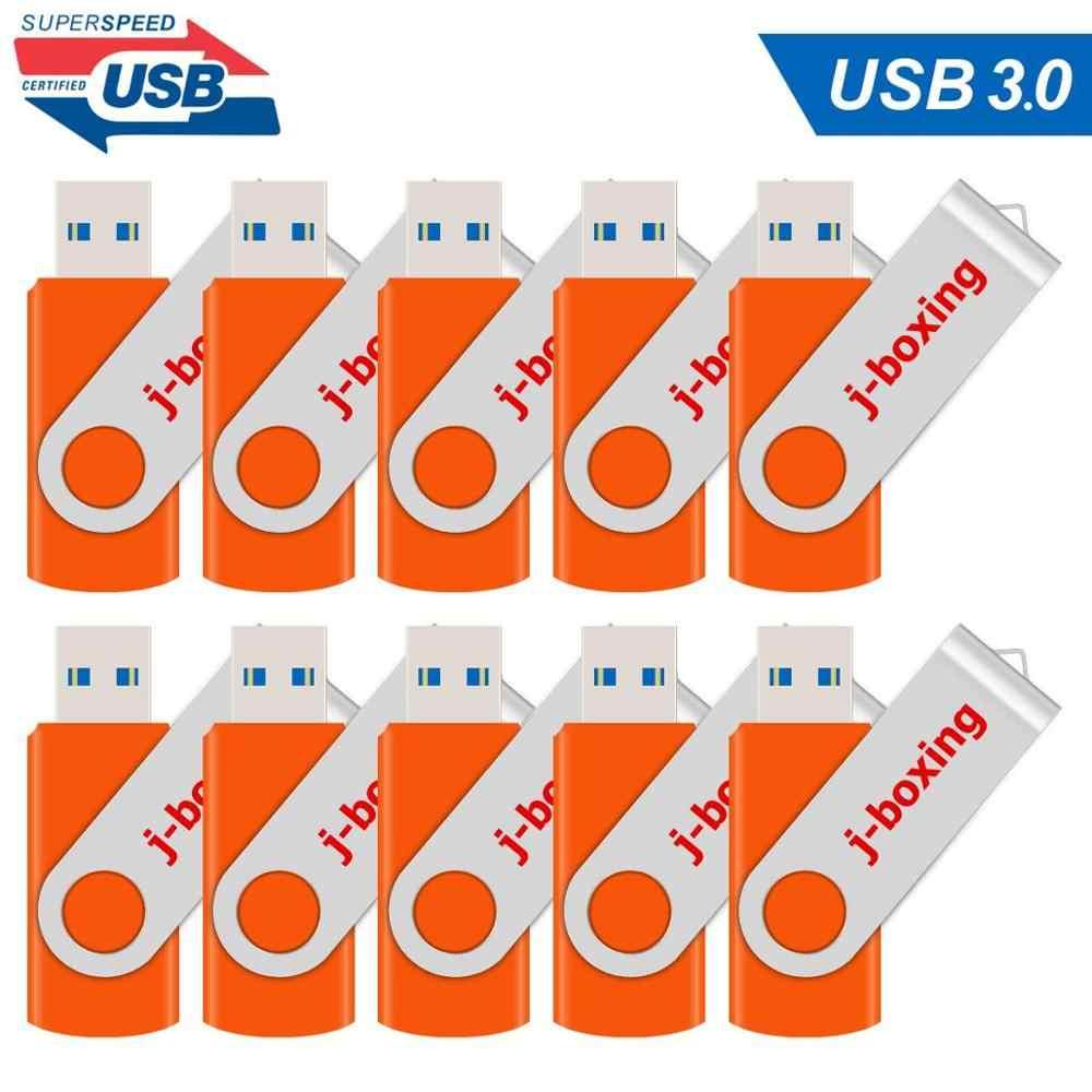 10 Pcs 16 Gb Usb 3.0 Flash Drive Metalen Vouwen 32 Gb Usb3.0 Pendrive Hoge Snelheid 64 Gb Memory Stick voor Computer Tabletten Mac Laptop