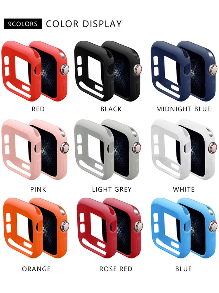soft silicone case for Apple Watch Band series 5 40MM 44MM iWatch bracelet series 1 2
