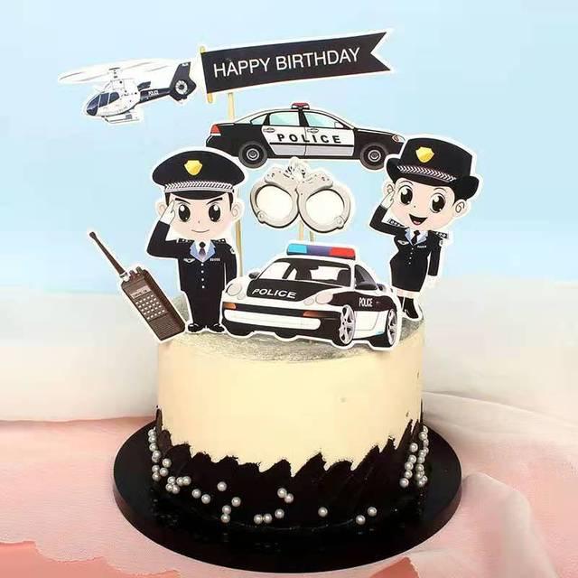 6pcs Polisi Mimpi Ulang Tahun Kue Topper Mobil Polisi Selamat Ulang Tahun Cupcake Toppers Bendera Untuk Pesta Ulang Tahun Bayi Dekorasi Kue Perlengkapan Dekorasi Cake Aliexpress