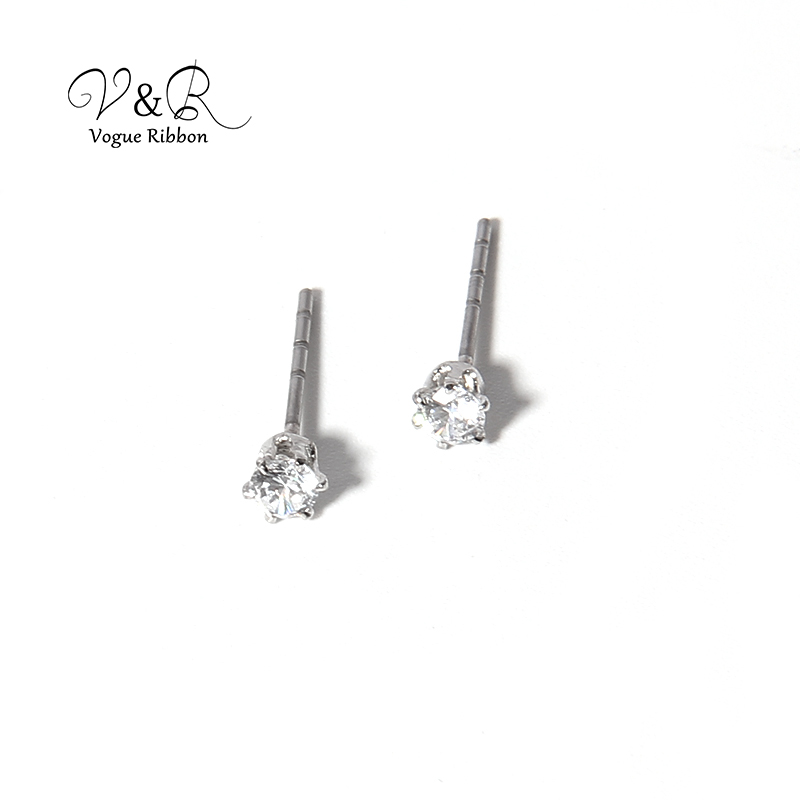 3 pairs a set, cute stud earring imitation rhodium plated, 1pair CZ stone stud, 1 pair pave stone butterfly   stud earring, 1 pa (7)
