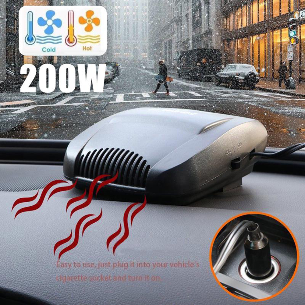 Portable Ceramic Auto Car Heater Heating Cooling Fan Window Defroster Demister