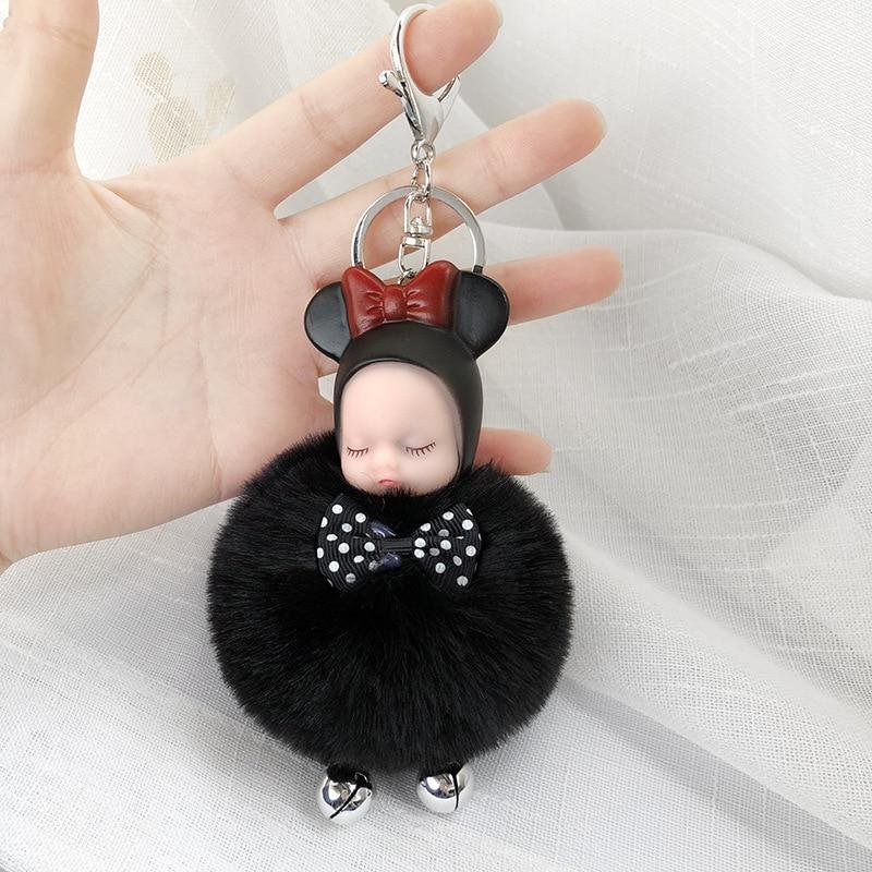 sweet decor retro gift sweet gift blue baby keyring Blue pendant doll keyring buttons lover gift doll pendant