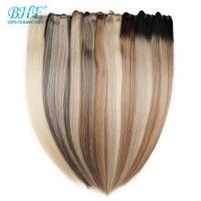 Bhf прямые человеческие волосы ткачество искусственные волосы одинаковой направленности натуральные человеческие волосы Уток 18 дюймов до 26 дюймов длинные