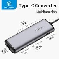 HUB da USB C hagicao USB a HDMI compatibile USB 3.0 RJ45 lettore Carder adattatore PD tipo C convertitore Video Dock USB 3.0 per Macbook