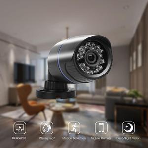 Image 2 - AZISHN H.265/H.264 FULL HD 1080P 2.0 Megapixel Security IP Camera  24IR LEDS ABS Plastic Outdoor Camera IP 1080P DC 12V/48V PoE