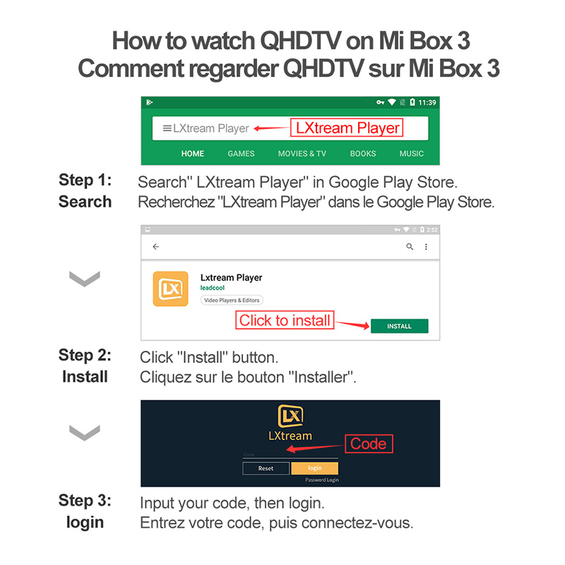 IPTV France Box Mi Box 3 4K HDR Android 8 1 2G 8G WIFI Google Cast Netflix Youtube with QHDTV IPTV 1 Year Arabic French IP TV in Set top Boxes from Consumer Electronics