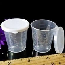 Жидкость для лекарств измерительное приспособление стаканчик с крышкой для кубиков льда прозрачный контейнер 40/28 мм 10 шт 30 мл пластиковый, медицинский