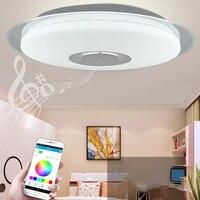 40cm חכם Led תקרת אור RGB ניתן לעמעום 36W 40W APP בקרת Bluetooth מוסיקה מודרני Led תקרת מנורה סלון חדר שינה