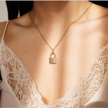 Gold Chain Lock Choker Necklace For Women Chocker Boho Necklaces Pendants collar collier femme collares bijoux(China)
