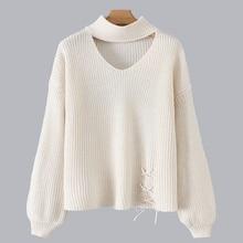 Womens sweater 2019 New fashion hollow turtleneck elegant chic wild women casual warm pullover