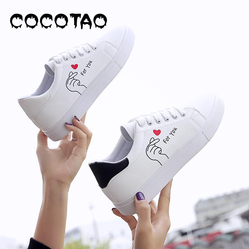 Small White Shoes Women's Foundation 2019 New Type Baitao Korean Plate Flat-soled Student Leisure Spring Whi15