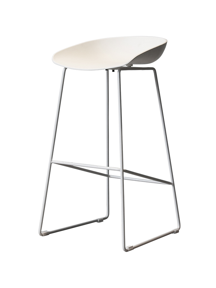 Nordic Modern Gold Wire Bar Chair Back    Front Desk High Stool