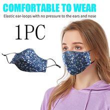 Máscara de boca lavável ajustável anti poluição poeira protetora máscara facial 1pc reutilização impressão algodão mascarillas cubrebocas masque
