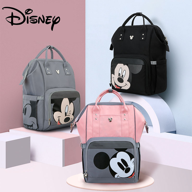 Disney Classic Mickey Minnie USB Diaper Bag Backpack Baby Bag For Mommy Maternity Bag Waterproof For Baby Care Stroller Bag
