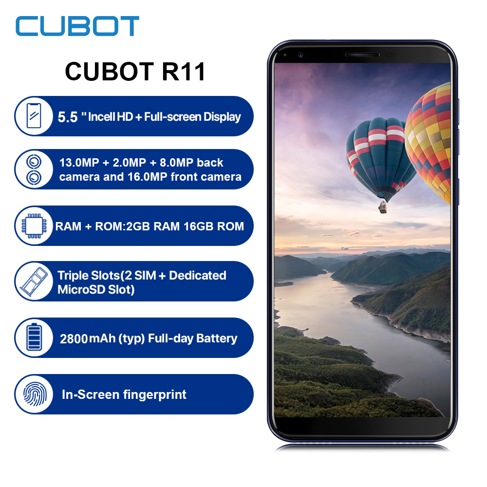 Купить Восстановленный смартфон Cubot Nova 4G 18:9 полный экран Android 8,1 3 Гб 16 Гб 5,5 дюйма MT6739 четырехъядерный мобильный телефон на Алиэкспресс