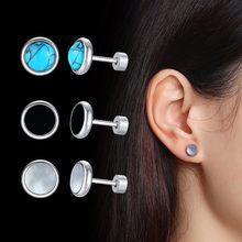 Vnox Trendy Shell Ohrringe für Frauen Gold-Ton Edelstahl Ohr Schmuck Einfache Klassische Feme Brincos