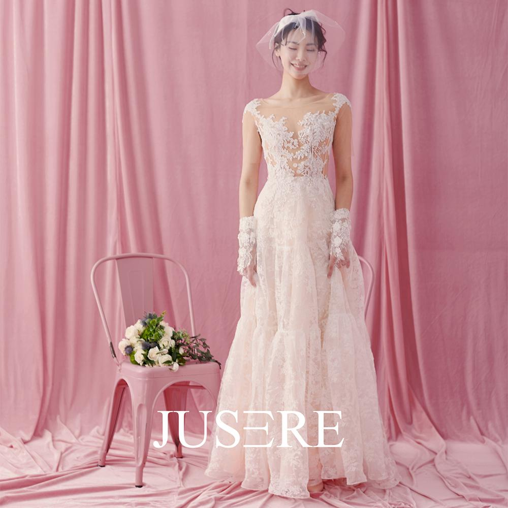 JUSERE  Ivory Wedding Dress A-Line Short sleeves  vestido de noiva Lace Bridal Gowns hauta couture 2019