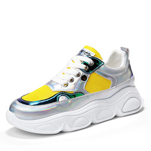Women Yellow high platform Sneakers Casual Shoes Comfortable Colorful Sneakers Woman Sneakers trainers chaussures femme JN-02 jn 041205jn