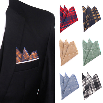 цена Plaid Pocket Square For Men Casual Cotton Hanky Mens Handkerchiefs Suits Classic Square Handkerchief Towels For Party Scarves онлайн в 2017 году
