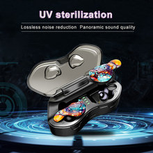 Aminy New UV sterilization Bluetooth 5.0 headphone IPX6 Waterproof wireless Earbuds HiFi Stereo wireless headphones for phone