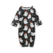 Новинка; одежда для маленьких мальчиков и девочек на Хэллоуин; ночная рубашка с привидением; Одежда для новорожденных; Одежда для младенцев; костюм; сезон осень-зима