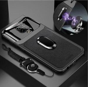 Роскошный чехол из плексигласа для Redmi Note 9 S, ударопрочный чехол-накладка на заднюю крышку для телефона, магнитный автомобильный держатель д...
