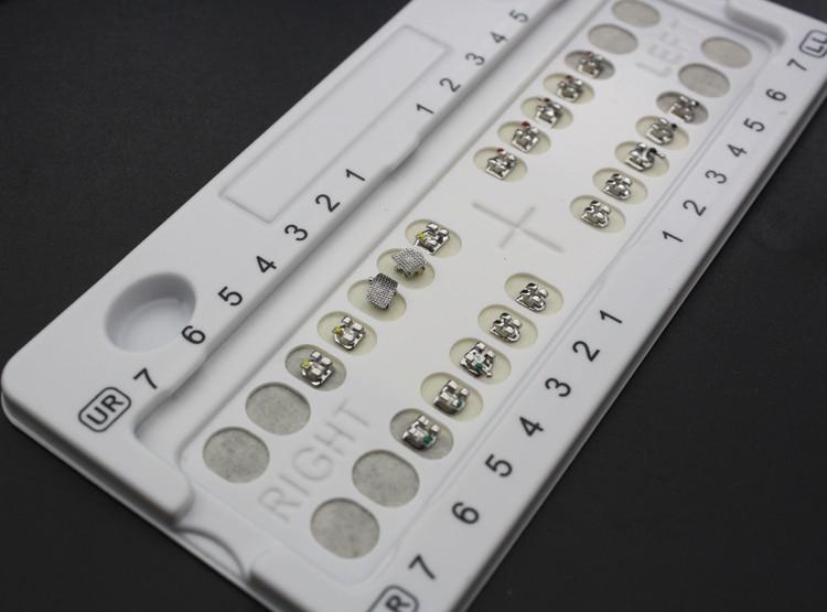 Metal Mesh Bottom Straight Wire Bracket Dental Correction Material Mini Standard Metal