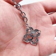 Mandala Lotus Sanskrit OHM OM AUM Yoga Religion Buddhism Keychain Men and Women High Quality Keychain Jewelry