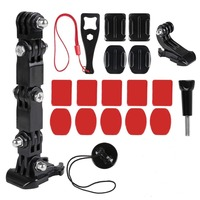Motorrad Helm Montieren Curved Adhesive Arm Für Xiaomi yi 4K Gopro Hero 7 6 5 4 3 SJCAM sj4000 eken H9 Action Kamera Zubehör