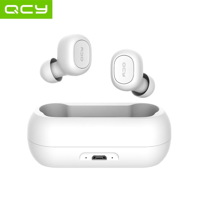 QCY qs1-auriculares TWS, inalámbricos por Bluetooth 5,0, mini auriculares invisibles de estéreo HiFi 3D con caja de Banco de carga de alimentación
