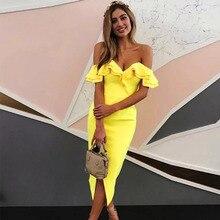 Женское облегающее платье Seamyla, летнее сексуальное Клубное платье с оборками, Подиумные женские вечерние платья знаменитостей, платья