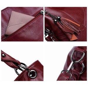 Image 5 - Yonder Большие женские сумки, кожаная сумка на плечо, Женская Большая вместительная Повседневная Сумка тоут, женские сумки высокого качества, сумки через плечо