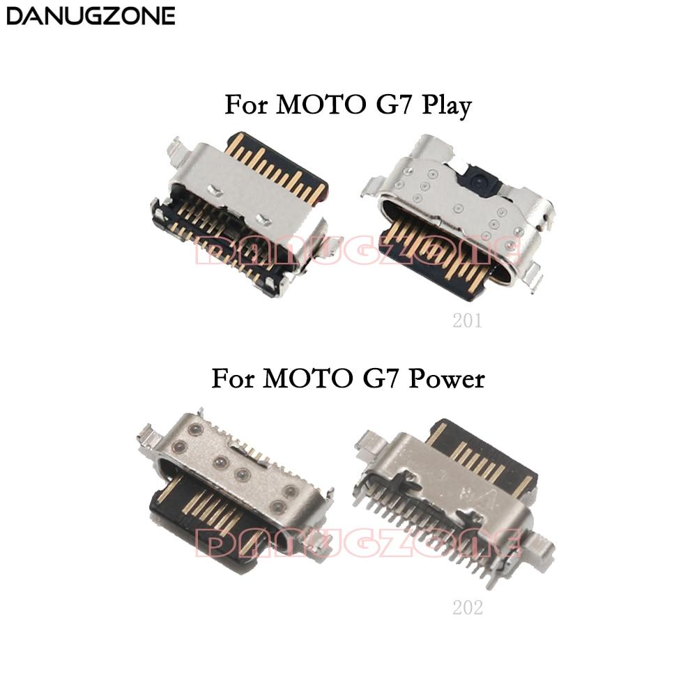 2PCS/Lot For Motorola MOTO G7 Play XT1952 / G7 Power XT1955 USB Charge Port Jack Socket Plug Charging Dock Connector
