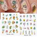 Наклейка для ногтей Harunouta с изображением сексуальной девушки, 3D цветок, листья, слайдер, водные переводные наклейки для ногтей, переводные н...