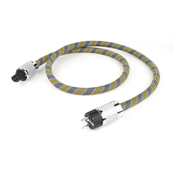 цены HI-End 8N OCC copper silver plated schuko power cable with carbon fiber connector plug