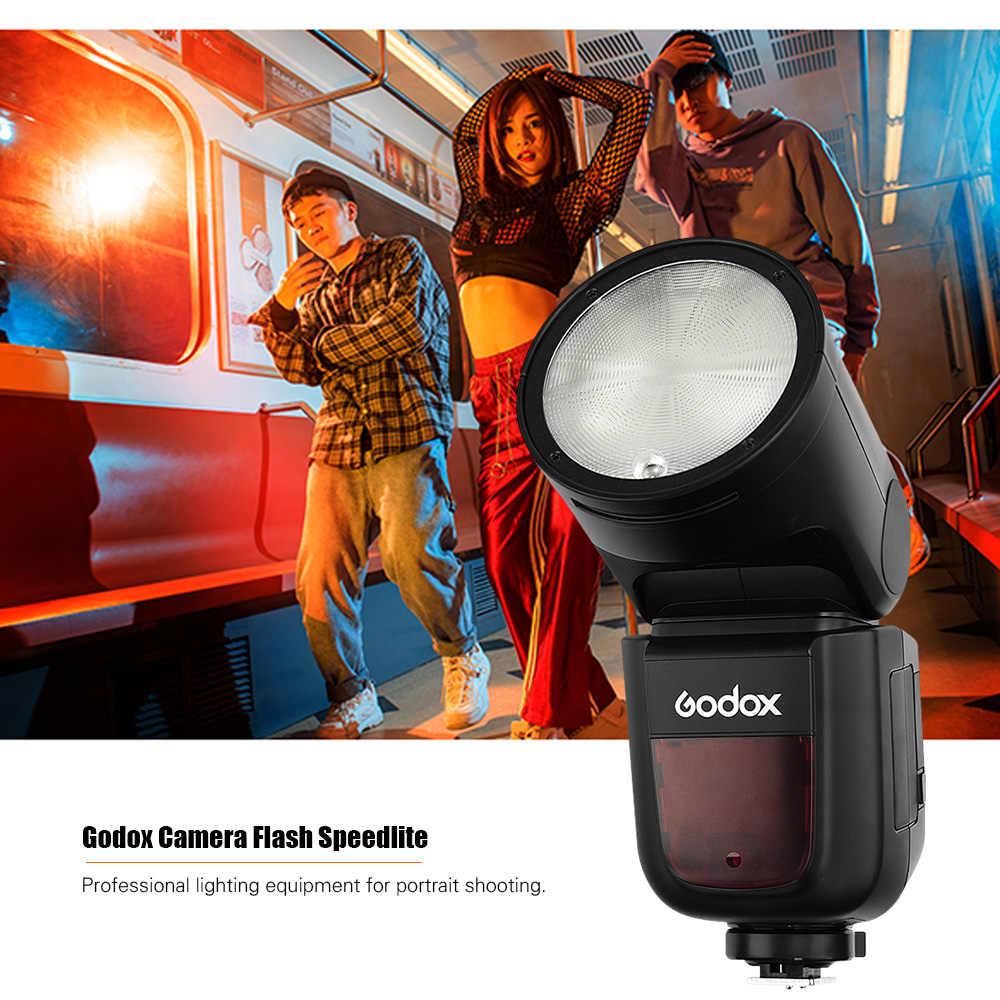 """Godox V1P Камера фотовспышка """"Speedlite"""" с круглой головкой вспышки Встроенный 2,4G Беспроводной X Системы ЖК-дисплей Дисплей типа «Горячий башмак» для PENTAX Камера"""